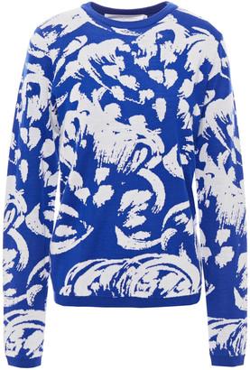 Victoria Victoria Beckham Jacquard-knit Wool Sweater