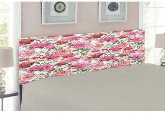 East Urban Home Watercolor Flower Upholstered Panel Headboard Size: Twin