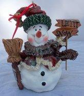 """Kurt Adler Kurt S. Adler Snowman """"Letit Snow"""" Resin 4"""" Christmas Ornament"""