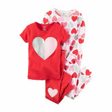 Carter's Girls 4Pc Pajama Mock Set