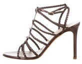 Valentino Leather Cage Sandals