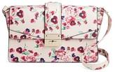 Mossimo Women's Pink Floral Crossbody Handbag