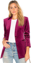 Theory Power Velvet Blazer in Pink. - size 4 (also in )