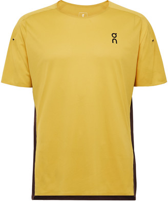 On Performance-T Mesh And Melange Stretch-Jersey T-Shirt