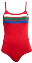 Bella Freud Brinkley Knitted Bodysuit - Womens - Red Multi