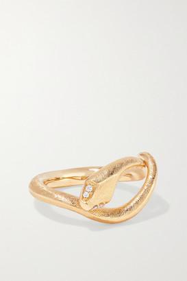 OLE LYNGGAARD COPENHAGEN Snake 18-karat Gold Diamond Ring - 49