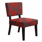 Asstd National Brand Simon Gray Fabric Slipper Chair