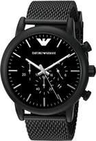 Emporio Armani Men's Quartz Stainless Steel Automatic Watch, Color: (Model: AR1968)