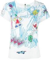 Mira Mikati doodle print T-shirt