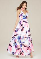 Bebe Oksana Floral Gown