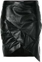 IRO frill hem fitted skirt