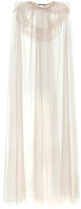 Monique Lhuillier Tulle cape