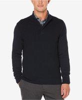 Perry Ellis Men's Quarter-Zip Mock Neck Sweater
