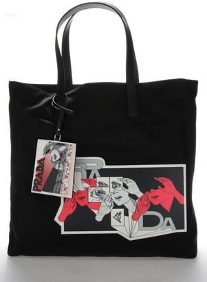 Prada Comic Print Tote Bag