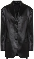 Acne Studios Cotton-blend satin blazer