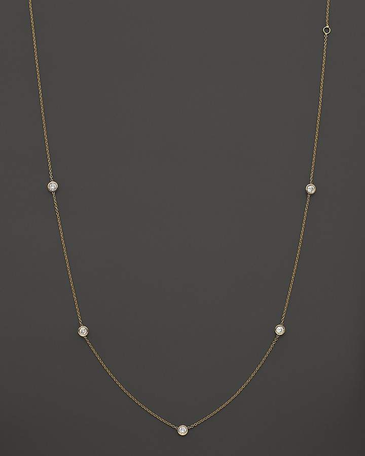 Bloomingdale's Diamond Station Necklace in 14K Yellow Gold, .50 ct. t.w.