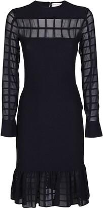 Alexander McQueen Ruffled Knit Dress