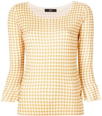 Steffen Schraut gingham print blouse