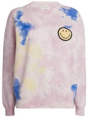 Sandro Paris Tie-Dye Smiley Sweatshirt