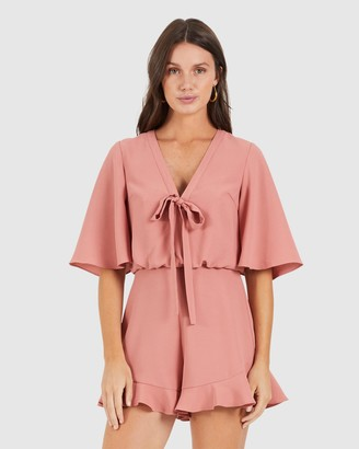 Cooper St Talk To Me Flared Sleeve Playsuit