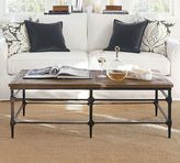 Pottery Barn Parquet Reclaimed Wood Rectangular Coffee Table