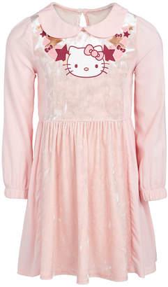 Hello Kitty Toddler Girls Graphic-Print Velvet Dress