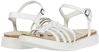 Ecco Corksphere Ankle Strap Sandal (Bright White Cow Leather) Women's Shoes