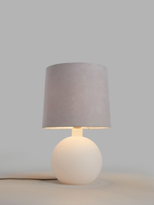 John Lewis & Partners Eclipse Frosted Glass Table Lamp, Matt White