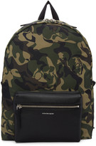 Alexander McQueen Green Camouflage Backpack