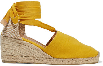 Castaner Campesina Lace-up Cotton-canvas Wedge Espadrilles