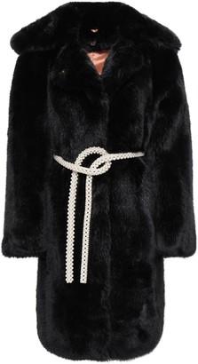 Shrimps Embellished Faux Fur Coat