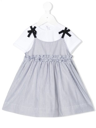 Il Gufo Layered Look Pinafore Dress