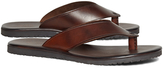 Brooks Brothers Wide Strap Leather Flip-Flops
