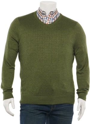 Croft & Barrow Big & Tall Easy-Care V-neck Sweater