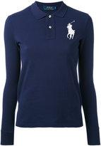 Polo Ralph Lauren large logo polo shirt - women - Cotton - S