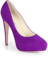 Brian Atwood Obsession Suede Platform Pumps