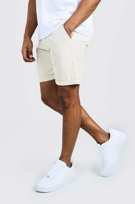 boohoo Skinny Fit Chino Short In Mid Length