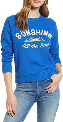 Lucky Brand Sunshine Embroidered Sweatshirt