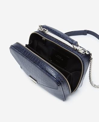 The Kooples Medium blue Barbara bag in crocodile leather