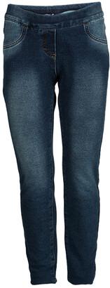 MonnaLisa Washed Indigo Terry Embellished Side Stripe Detail Jeggings 10 Yrs