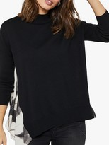Mint Velvet Pearl Back Jumper, Black