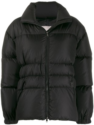 Moncler Logo Patch Cuffs Puffer Jacket