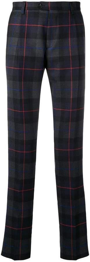 Etro plaid slim fit trousers
