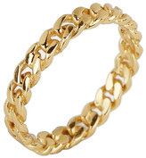 Argentovivo 18K Gold Plated Link Band Ring - Size 7