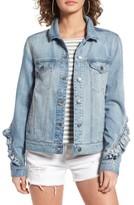 BP Women's Ruffle Denim Jacket