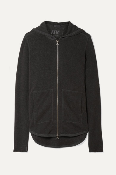 ATM Anthony Thomas Melillo French Cotton-blend Terry Hooded Top - Anthracite