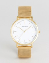 Sekonda Gold Mesh Watch With White Dial Exclusive To Asos