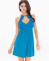 Soma Intimates Sleep Chemise Blue Sea