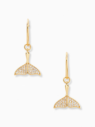 Kate Spade Whale Tails Pave Drop Earrings