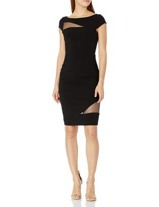 Black Halo Women's Remi Illusion Inset Sheath Dress
